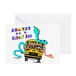 Snakes on a School Bus Greeting Cards (Pk of 20)