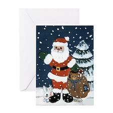 Funny Teddy santa Greeting Card