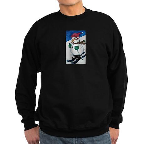 Frosty On Skis Sweatshirt (dark)