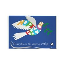 PEACE DOVE Rectangle Magnet