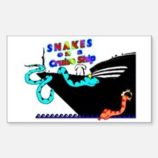Snakes on a Cruise ship Rectangle Decal