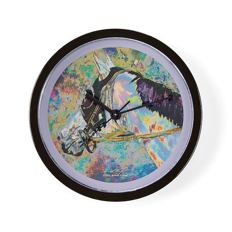 """Rainbow Runner"" Wall Clock"
