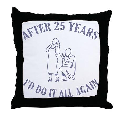 25th Throw Pillow