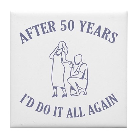 50th Tile Coaster
