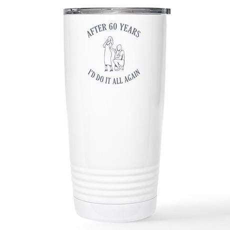 60th Stainless Steel Travel Mug