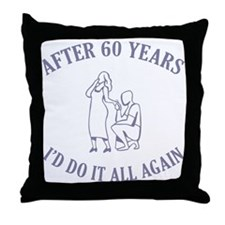60th Throw Pillow