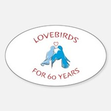60th Lovebirds Oval Decal