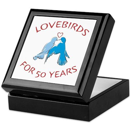 50th Lovebirds Keepsake Box