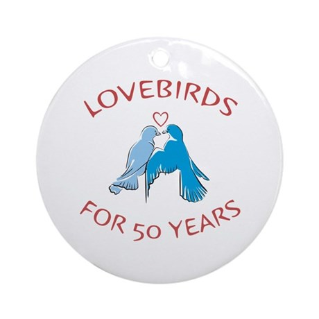 50th Lovebirds Ornament (Round)