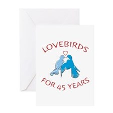 45th Lovebirds Greeting Card