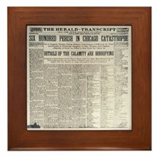 Titanic Sunk by Explosion Framed Tile