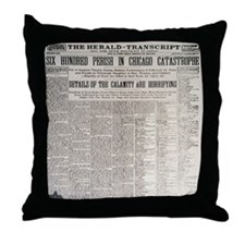 Titanic Sunk by Explosion Throw Pillow