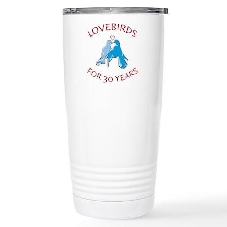 30th Lovebirds Stainless Steel Travel Mug