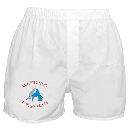 30th Lovebirds Boxer Shorts