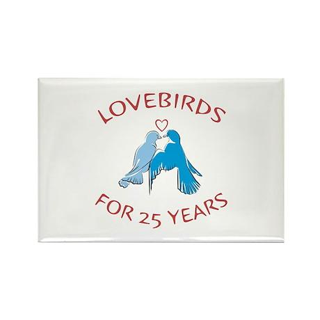 25th Lovebirds Rectangle Magnet (100 pack)