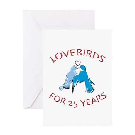 25th Lovebirds Greeting Card