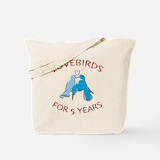 5th Lovebirds Tote Bag