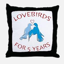 5th Lovebirds Throw Pillow