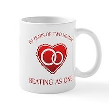 60th Heart Rings Mug
