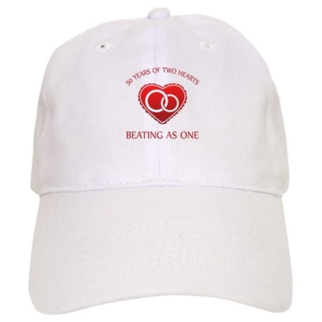 50th Heart Rings Cap