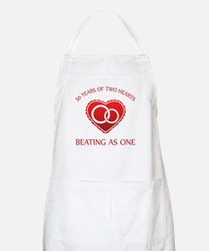 50th Heart Rings BBQ Apron