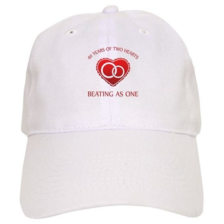 40th Heart Rings Cap
