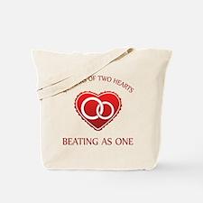 40th Heart Rings Tote Bag