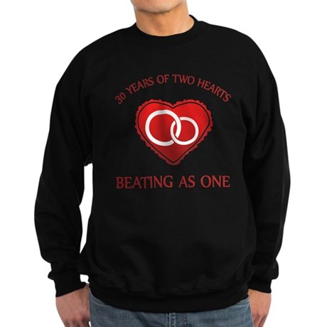 30th Heart Rings Sweatshirt (dark)