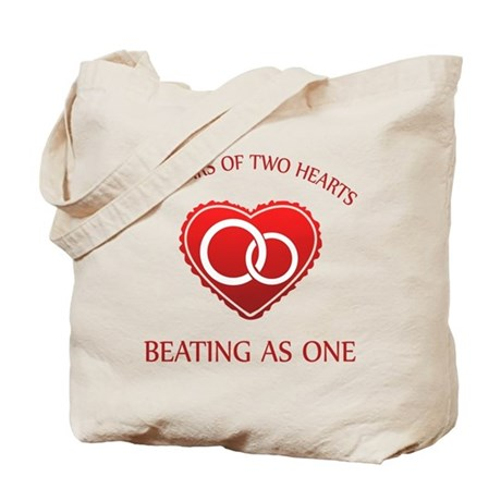 30th Heart Rings Tote Bag