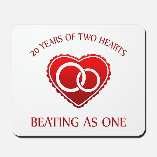 20th Heart Rings Mousepad