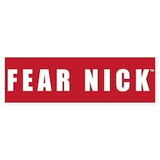 Fear Nick Bumper Sticker Crimson/White