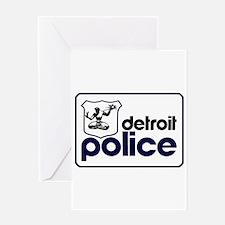 Unique Detroit Greeting Card