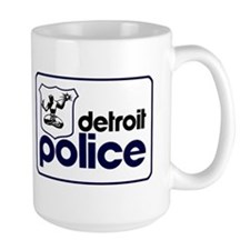 Old Detroit Police Logo Mugs