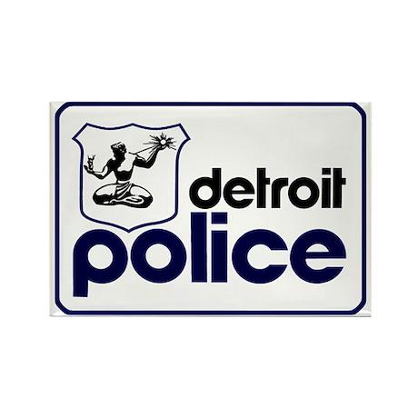 Old Detroit Police Logo Magnets