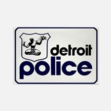 Old Detroit Police Logo Magnets