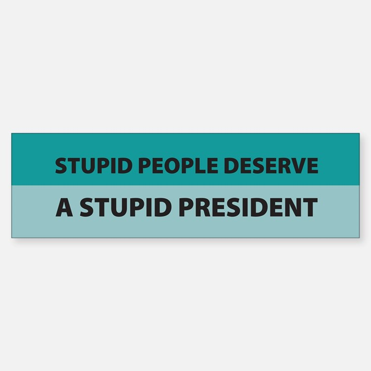Stupid People Bumper Bumper Bumper Sticker