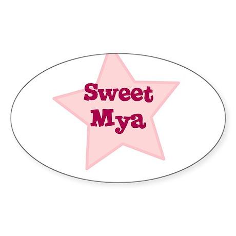 Sweet Mya Oval Sticker