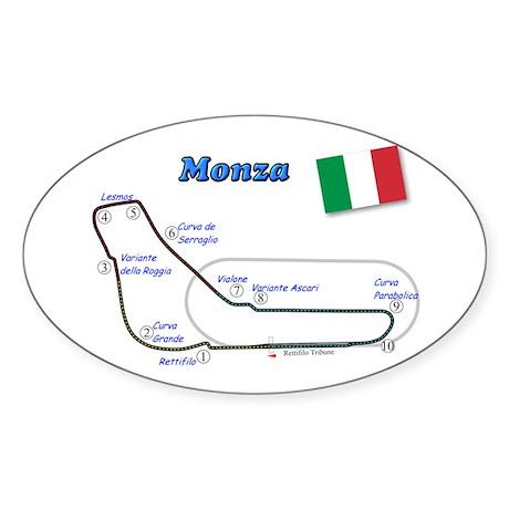 Race Circuits Oval Sticker