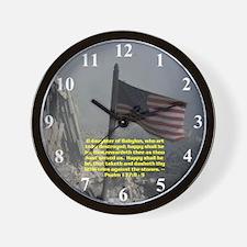 Psalm 137:8 - 9 Wall Clock