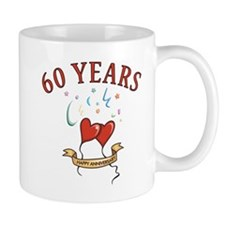 60th Festive Hearts Mug