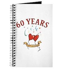 60th Festive Hearts Journal