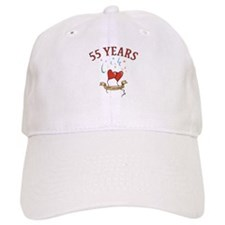 55th Festive Hearts Baseball Cap