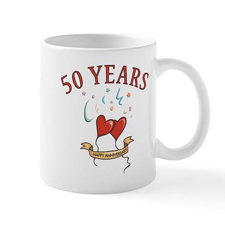 50th Festive Hearts Mug