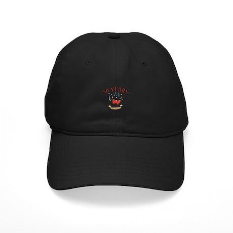 50th Festive Hearts Black Cap
