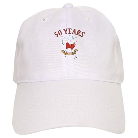 50th Festive Hearts Cap