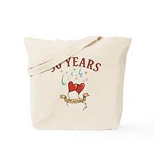 50th Festive Hearts Tote Bag