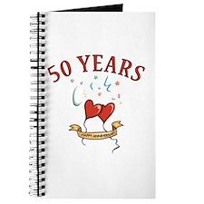 50th Festive Hearts Journal