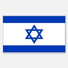 Israeli Flag Rectangle Decal