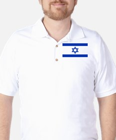 Israeli Flag Golf Shirt