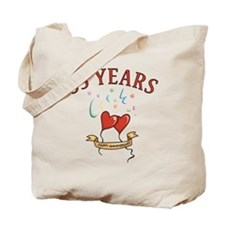 35th Festive Hearts Tote Bag